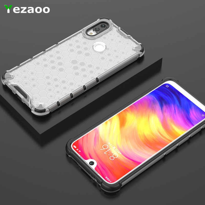 Hybrid PC+TPU Shockproof Case Xiaomi Redmi 7 Note 5 7 6 Pro 7A K20 Honeycomb Texture Clear Protection Case mi CC9 CC9e 9t A3Lite