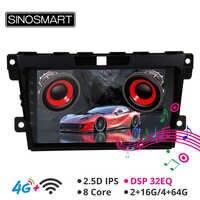 SINOSMART Ondersteuning BOSE Systeem/4G Sim-kaart DSP Car Audio GPS Navigatie Speler voor Mazda CX-7 2007- 2014 2.5D IPS/QLED 2G/4G