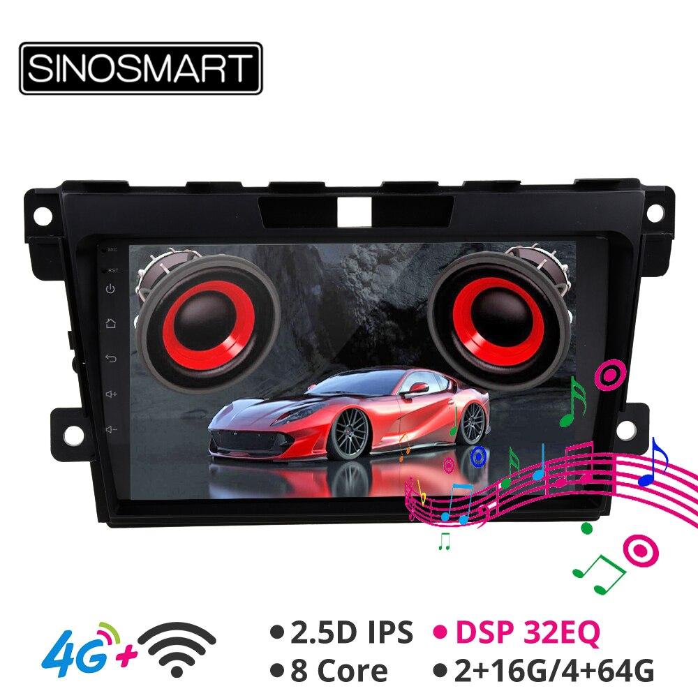 Sinosmart suporte bose sistema/4g sim cartão dsp carro áudio gps navegação jogador para mazda CX-7 2007 2008-2014 2.5d ips/qled 2g/4g