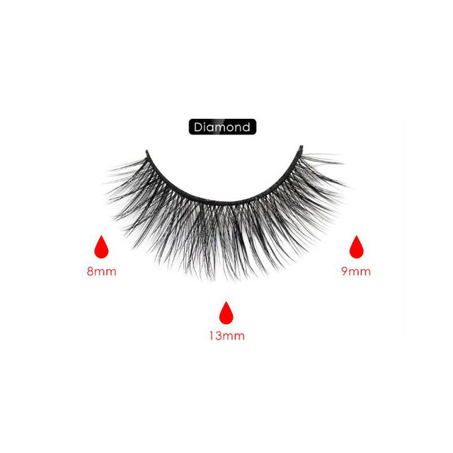 Magnetic Eyeliner Eyelashes Set Natural Thick Handmade No Glue Prevent Allergy Magnetic Fake Eyelashes With Eyelashes Applicator 3