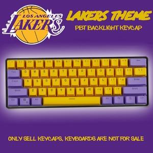 Image 1 - 61 Key PBT Backlight DIY Two Color Mechanical Keyboard Keycap For GH60 / RK61 / ALT61 / Annie / Poker Keyboard keycaps