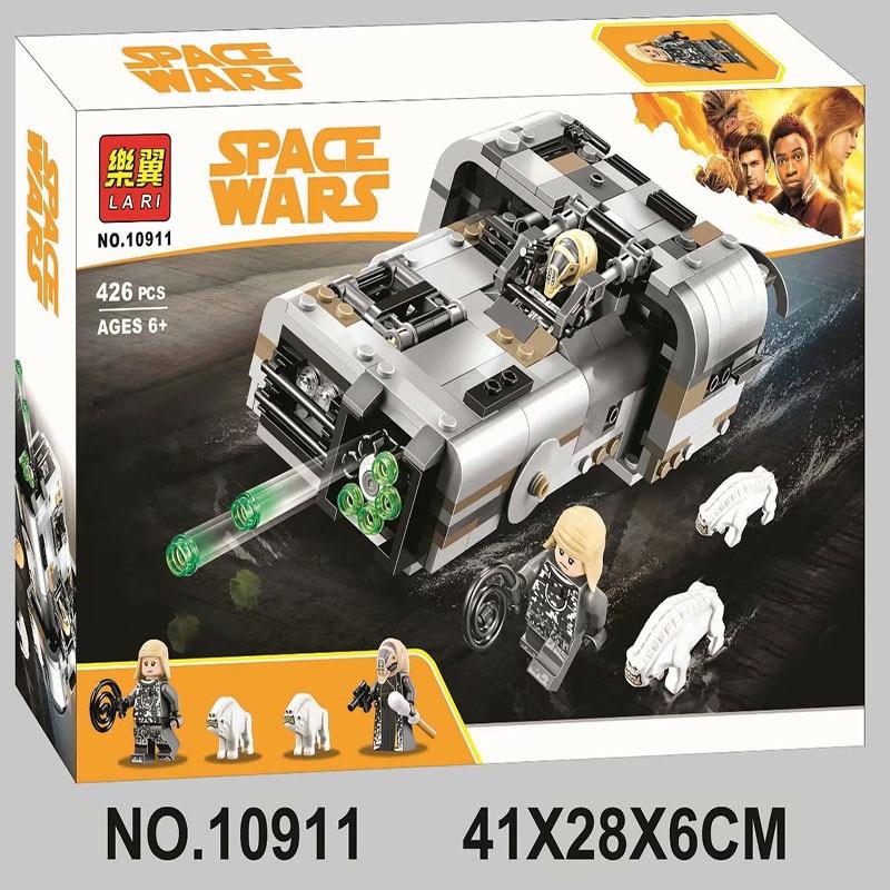 IN STOCK Bela 10911 426Pcs Star Wars series Moloch's Landspeeder Building Blocks Bricks Kids Friends Toys Christmas gift 75210