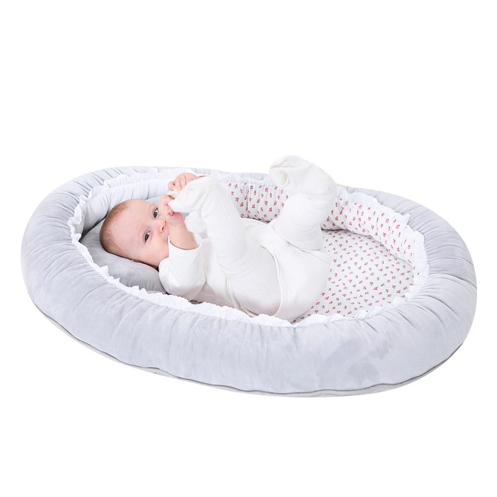 Foldable Crib Folding Soft Baby Nest Bed Newborn Infant Toddler Travel Nursery Bed Cradle Sleeping Bed Bionic Crib