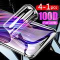 4 шт. 100D Защитная Гидрогелевая пленка для iPhone 11 Pro 6 6s 8 7 plus xr x xs max, полная защитная пленка, мягкая пленка, не стекло