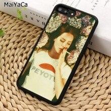 MaiYaCa Lana Del Rey divertido teléfono caso para iPhone X XR XS 11 12 Pro MAX 5 se 6 6 S 7 7 8 Plus, Samsung Galaxy S5 S6 S7edge S8 S9 S10