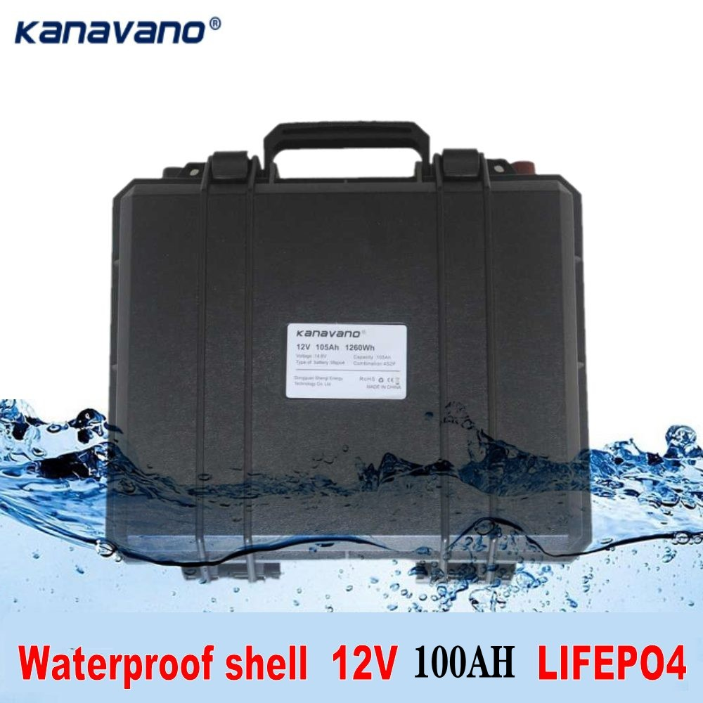 <font><b>12V</b></font> <font><b>lifepo4</b></font> <font><b>battery</b></font> pack <font><b>100ah</b></font> phosphate RV <font><b>battery</b></font> with BMS for electric cars motorhomes golf carts and Inverter image