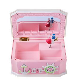 Saim Music Box Pink Creative Sailing Décor Jewel Storage Case