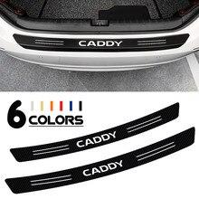 Pegatinas protectoras de desgaste para maletero de coche, calcomanías de fibra de carbono para parachoques trasero de Volkswagen, Caddy, Golf, Passat, Jetta, Touran, SS, S71