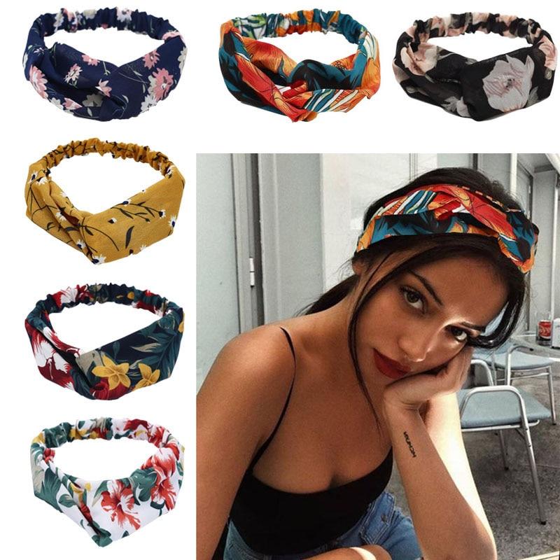 Colorful Elastic Hair Band Wrap Plaid Knot Headband Hair Band For Women Bandana Girls Striped Headwear Gift Hair Band Headband