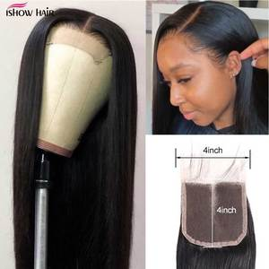 Image 2 - Ishow Straight Hair Bundles with Closure Peruvian Hair Bundles with Closure Human Hair Bundles and Closure for 4x4 Closure Wig