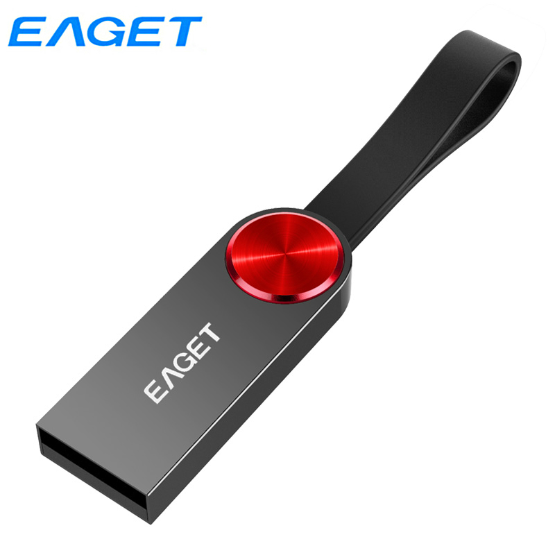 Eaget USB 3.0 Pen Drive 128GB 64GB 32GB High Speed Waterproof Stylish USB Flash Disk Capless Memory Stick With Key Ring Loop U80|USB Flash Drives| |  - title=