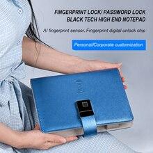 Luxury Business Custom Logo Printed Debossed Soft Black PU Leather Notebook Gift Cover Customized Organizer
