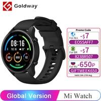 Xiaomi-reloj inteligente Mi Watch, dispositivo resistente al agua de 5atm, con GPS, control del ritmo cardíaco y del oxígeno en sangre, Bluetooth 5,0 y versión Global
