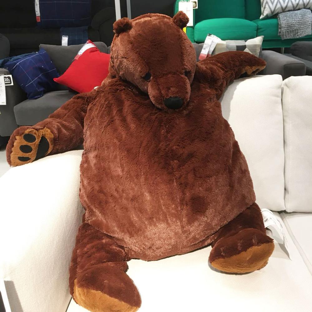 60/100cm Huge Brown Bear Plush Toys Lovely Teddy Bear Plush Stuffed Animal Soft Doll Pillow Cushion Toys For Girls Kids Birthday
