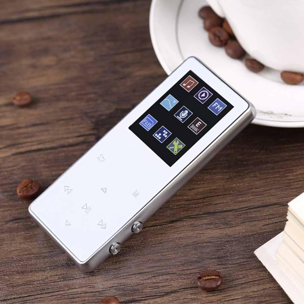 Luksusowy metalowy odtwarzacz MP4 odtwarzacz bluetooth przenośny Slim MP3 MP4 Media 1.8 cala 8 GB/16 GB odtwarzacz muzyczny prezent FM Hi-Fi Walkman