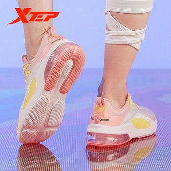 Xtep Women's Shoes 2020 Summer New Half Palm Air Cushion Light Shock Absorption Running Sports 880218110099 - sale item Sneakers
