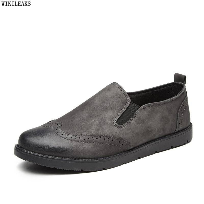 Shoes Mocassin Loafers Men Brogues Slip-On Mens Sepatu Pria Homme Trampki Trampki