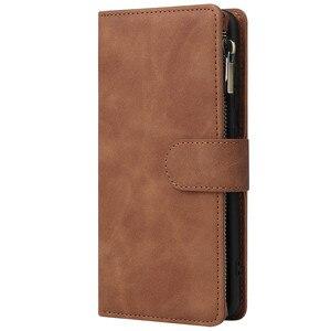 Image 2 - Rits Lederen Voor Samsung Galaxy A01 A11 A21 A41 A51 A71 A81 A91 A50 A30 A70 Case Magnetic Wallet Card flip Stand Phone Bag