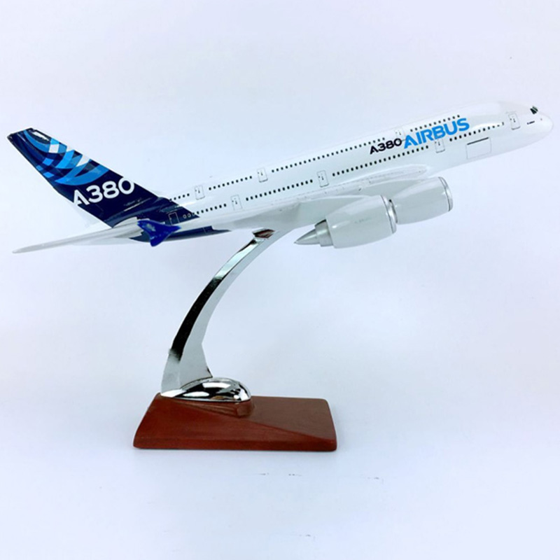 30CM Simulation Aircraft 1:250 Airbus AIRBUS A380-800 Model Prototype Diecast Plastic W Base Alloy Aircraft Plane CollectibleToy