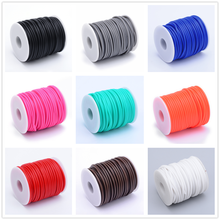 2mm 3mm 4mm Hollow Pipe PVC Tubular Rubber Cord Thread String Wrapped with White Plastic Spool Jewelry Findings F80