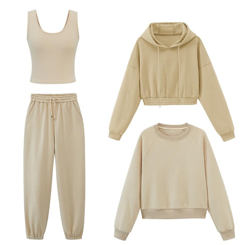 Toppies/женские спортивные костюмы, толстовки с капюшоном, Осень зима 2020, флисовые толстовки оверсайз, однотонные куртки|Толстовки и свитшоты|   | АлиЭкспресс