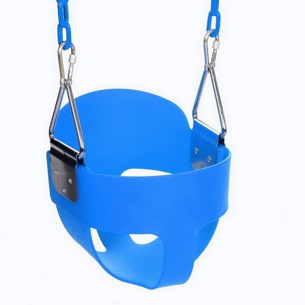 Balançoire extérieure intérieure pour enfants balançoire pour enfants jouets sains sûrs pour enfants bébé bas dos PE panier en plastique amusant jeux fous L