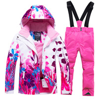 Boys Clothing Sets Fleece Warm Kids Winter Clothes Waterproof Girls Skiing Suits Sport Children Snow Outfits 7 Years Tracksuit