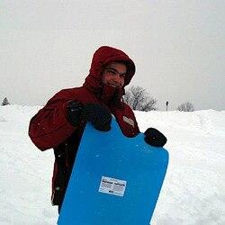 137cm Flying carpet snow sled grass skiing foldable carpet snow tubes snowbo S*