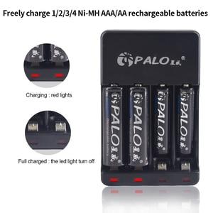 Image 3 - パロ 4 スロット USB スマート充電式バッテリー充電器 1.2V ニッケル水素ニカド Aa AAA 充電式電池