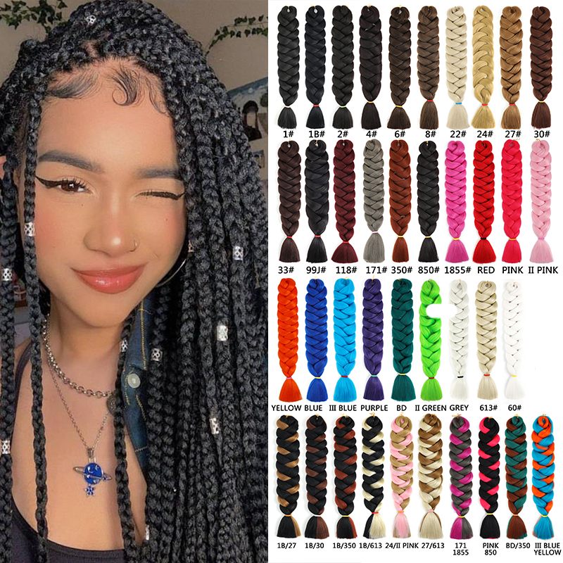 Natifah 165g 82 Inch Jumbo Braid Extension Box Braid Hair Ombre Synthetic Hair Braids Extensions Bug Color Hot Sale