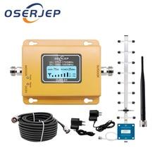Усилитель сигнала сотового телефона GSM LTE 1800 LCD 70 дБ усиление 2g 4g DCS 1800 МГц усилитель сигнала мобильного телефона Усилитель GSM с комплектом антенн