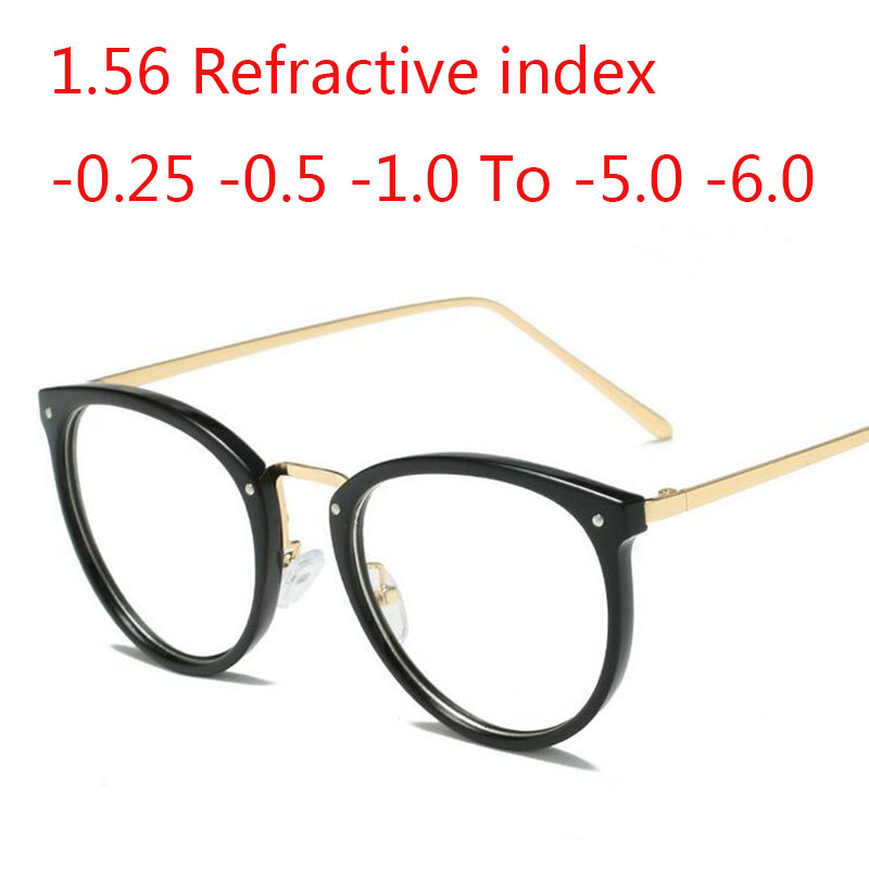 1.56  Refractive Index Prescription -0.5 -1.0 -2.0 -3.0 -4.0 -5.0 -6.0 Round Spectacle Frames Eyeglasses Clear Eyeglasses