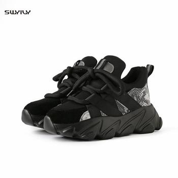 SWYIVY Women Flats Platform Sneakers Lace-up White Sneakers Women Casual Shoes Female Mixed Colors Spring Autumn Vulcanized Shoe