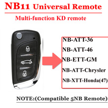 Keydiy kd remoto nb11 universal multi funcional chave remota 3 botão nb série chave para kd900 urg200 remoto mestre
