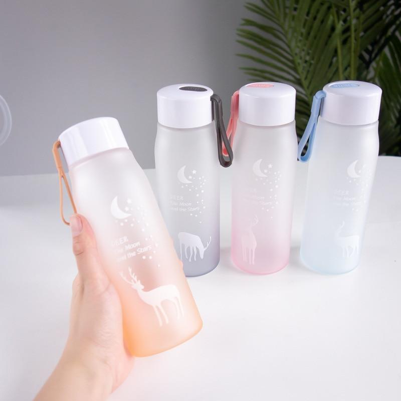 560ml Water Bottle Leak Proof for Girl Biking Travel Portable Water Bottles Plastic  6