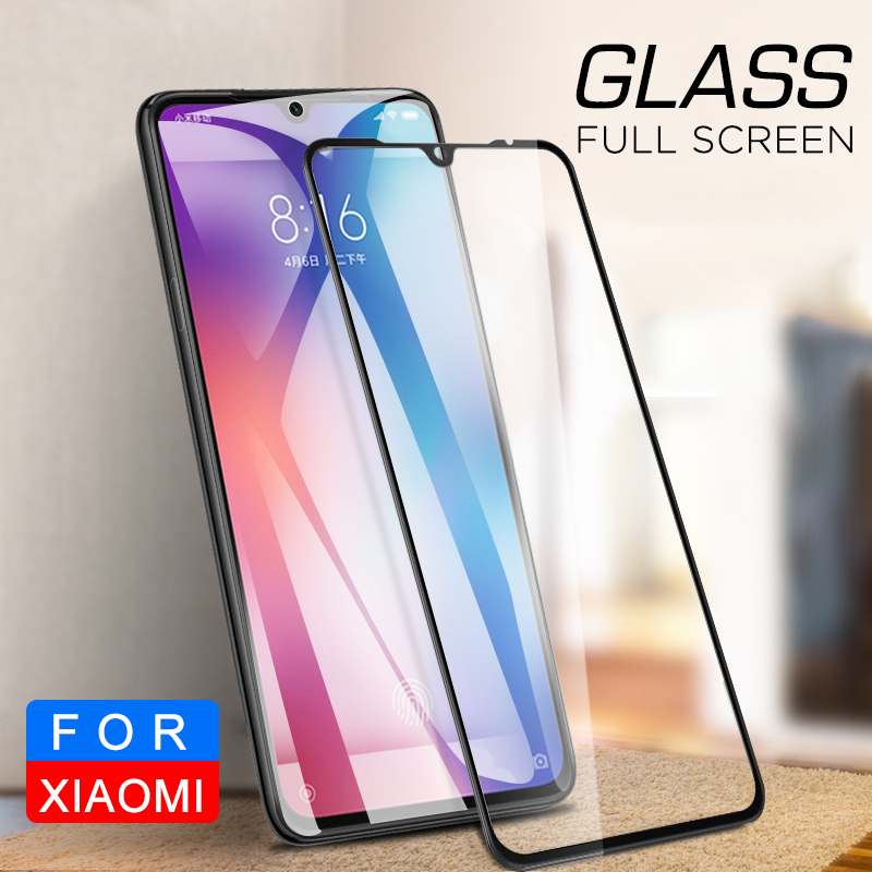 2PCS Full Cover Glass For Xiaomi Mi 9 Pro 5G Mi9 Lite Note 10 CC9 Pro CC9E 9T Pro 5G A3 Protector Cover For Xiaomi Mi9T Pro Cc9