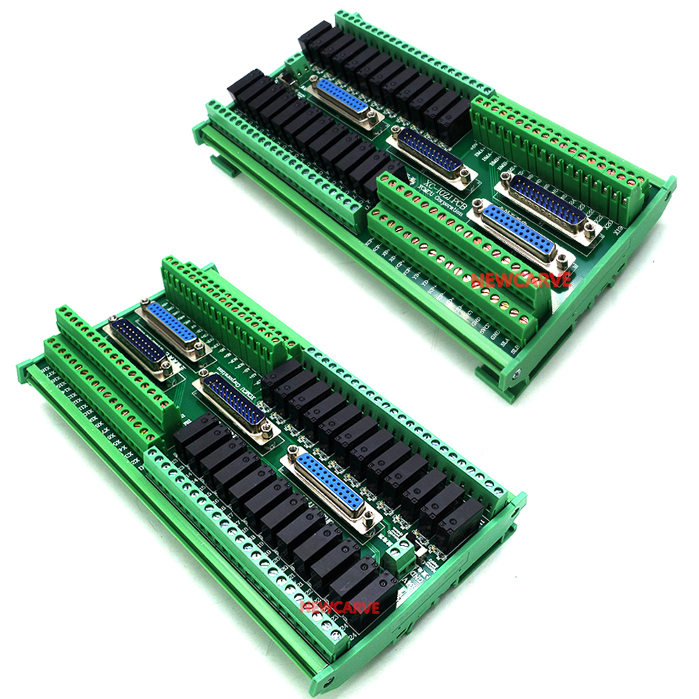IO Board Integrated Adapter Board With 4PCS DB25 Parallel Port Cable For XC609 XC709 XC809 Series G-code Controller NEWCARVE