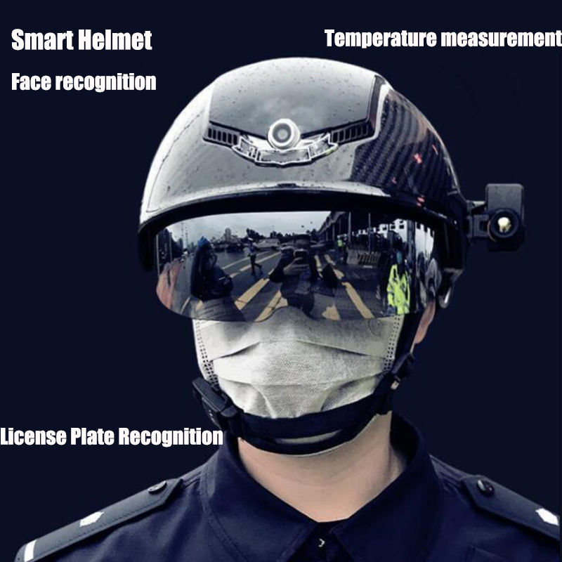Thermal Imaging Smart Helmet Temperature Measurement Face Recognition License Plate Recognition Smart Helmet