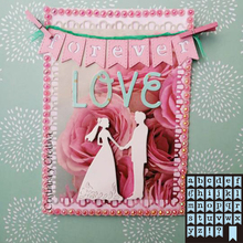 26 alphabet label combination cutting metal die decoration for scrapbook punching card DIY process edge