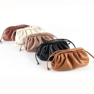Сумка для женщин, сумка в виде облака, мягкая кожа, сумка на одно плечо, сланцевая сумка, сумочка, ежедневные клатчи, сумки, сумка-мессенджер
