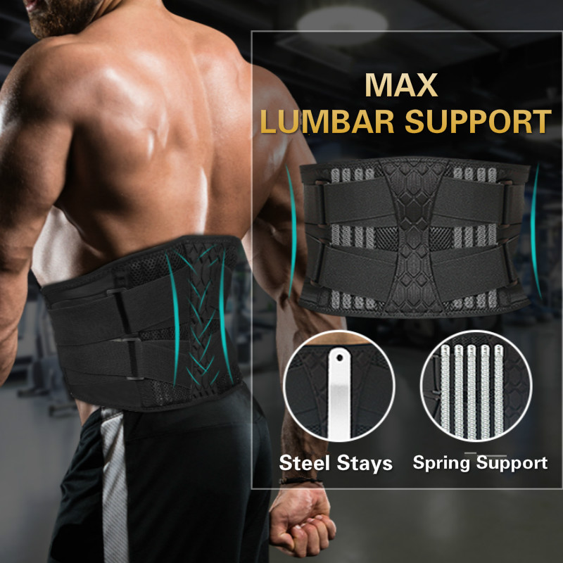 Sports Lower Back Brace Lumbar Support Belt Adjustable Waist Support Straps for Back Pain Relief Corset Body Shaper Gym Belts