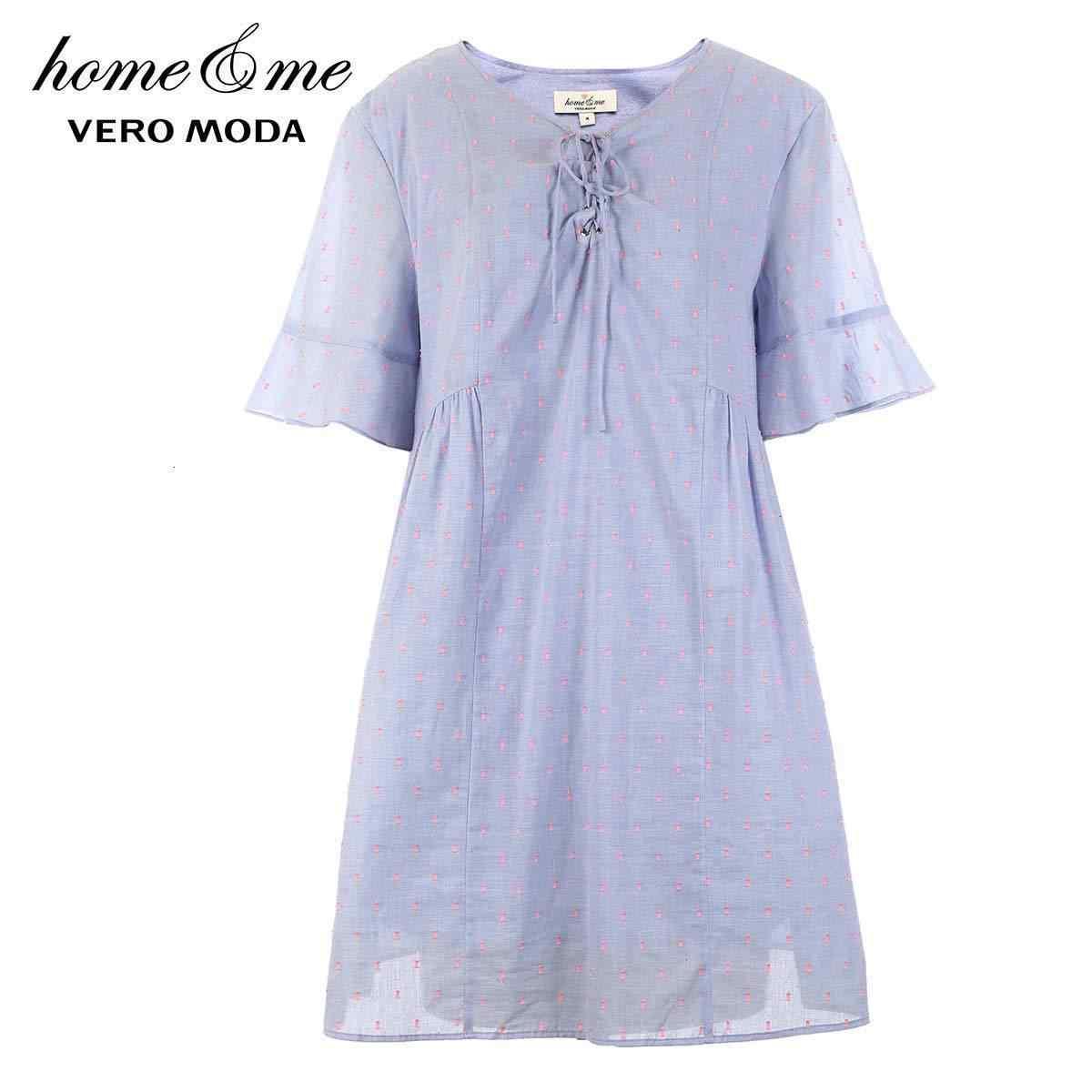 Vero Moda/Новое поступление 2019 года; домашняя одежда в горошек на шнуровке; ночная рубашка '124; 31926Z569