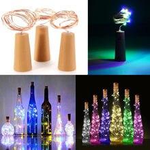 Alimentato a batteria di sughero bottiglia di luce 1m / 2m FAI DA TE HA CONDOTTO LA barra chiara luce di festa di compleanno bottiglia di vino tappo bar luce (senza batteria)