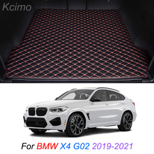 The Trunk Floor Leather Liner Car Trunk Mat Cargo Compartment Floor Carpet For BMW X4 G02 2019-2021
