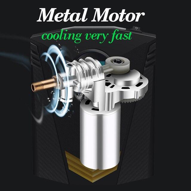 Compresseur dair Portable pour voiture, pompe à Air numérique pour pneus de moto, avec lumière LED, DC 12V, 150 PSI