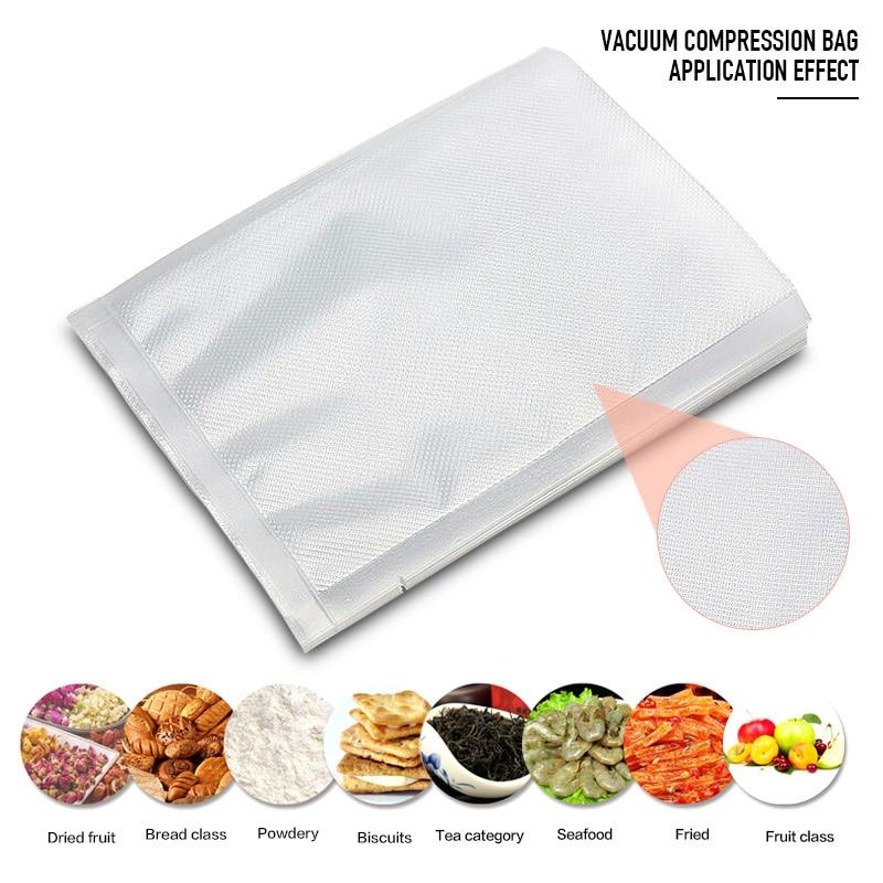 Household Food Vacuum Sealer Bags Packaging Machine Vacuum Packer Storage One Side Embossed 17x25cm 28x35cm Vacuum Bags For Food