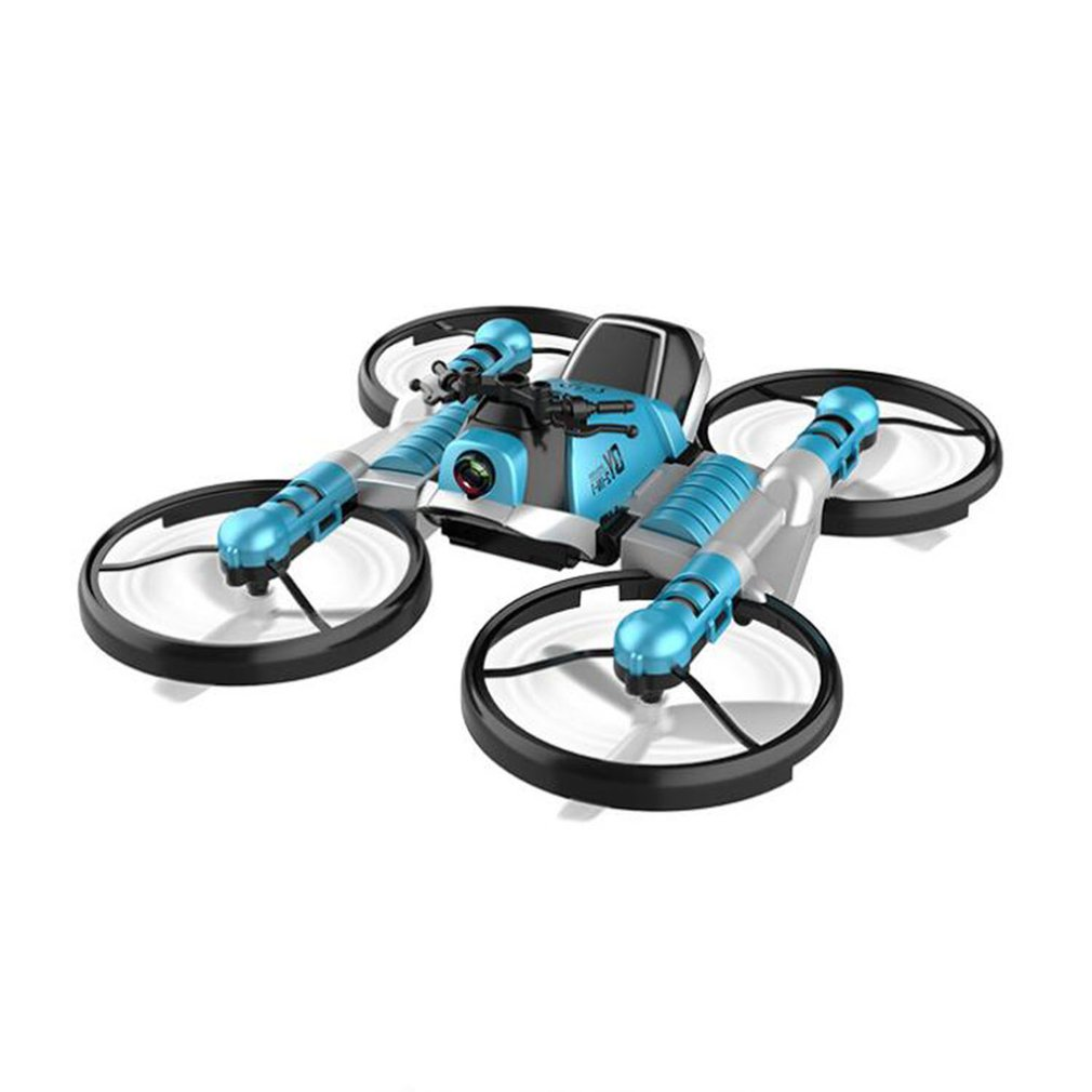 2 4G Deformation Motorcycle Folding Quadcopter Drone Double Mode Quadcopters Aircraft Quadcopter RC Helicopter