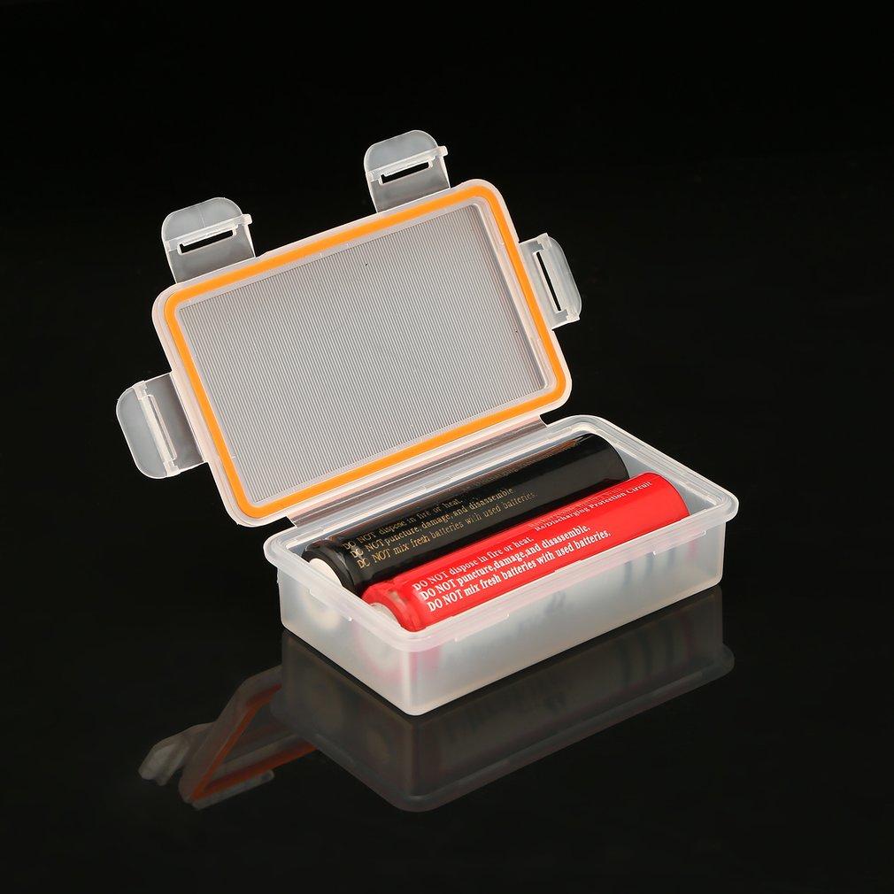 1 шт. Soshine 18650 прозрачный держатель батареи коробка 2x18650 батарея водонепроницаемый ящик для хранения Защитный из твердого пластика чехол