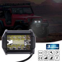 200W 4inch Triplex Work Light Automobile LED Bar Single Strip Spot Driving Illumination For Jeep UTV ATV Vehicles