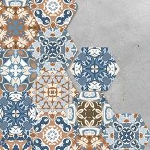 Декоративные напольные обои шестигранная саржевая бумага фотообои